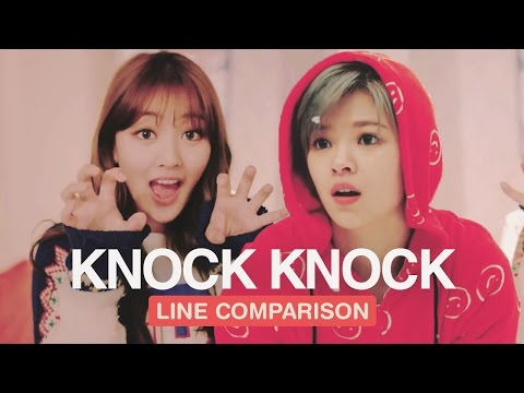 TWICE - Knock Knock (Line Comparison) 「without Jihyo」