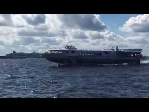 Hydrofoil Sint Petersburg to Peterhof Russia ARC Baltic 2015