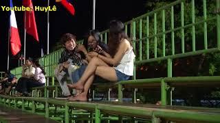 HuyLê-Tán Gái Xinh Phong Cách Người Âm Phủ ở Huế -Cực Chất Max Hài