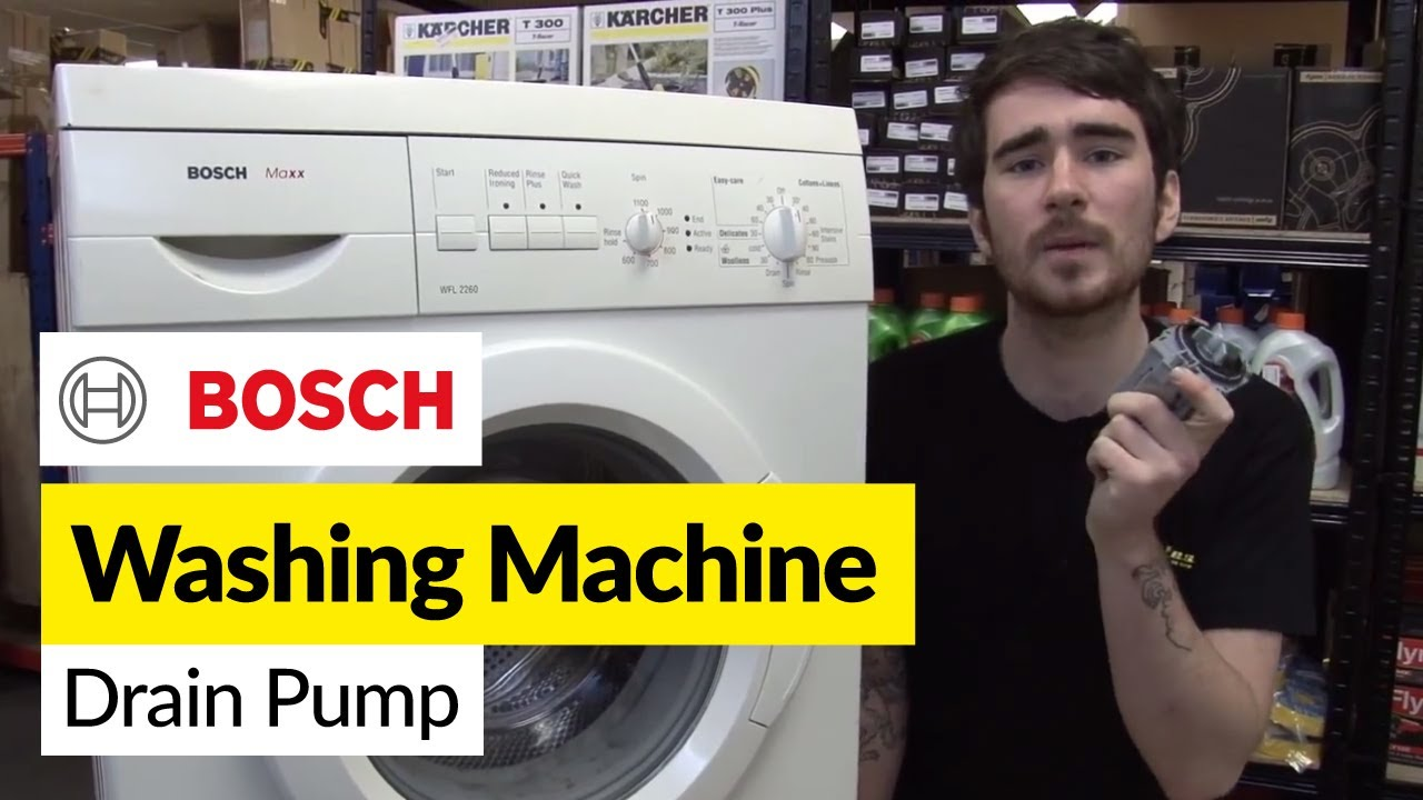 how to replace washing machine pump on a bosch washer. Black Bedroom Furniture Sets. Home Design Ideas