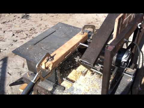 Demonstrating steel pantorouter making mortise and tenon joint(HD)