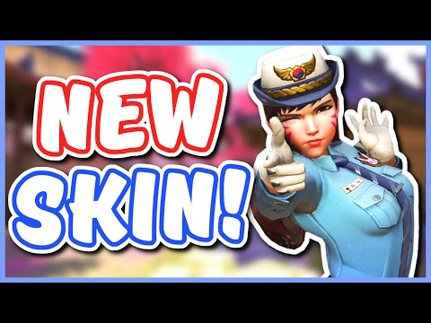 Overwatch - NEW D.VA POLICE SKIN (First Look on Console)