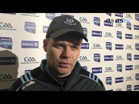 Dessie Farrell reacts to Dublin's Allianz League win over Donegal