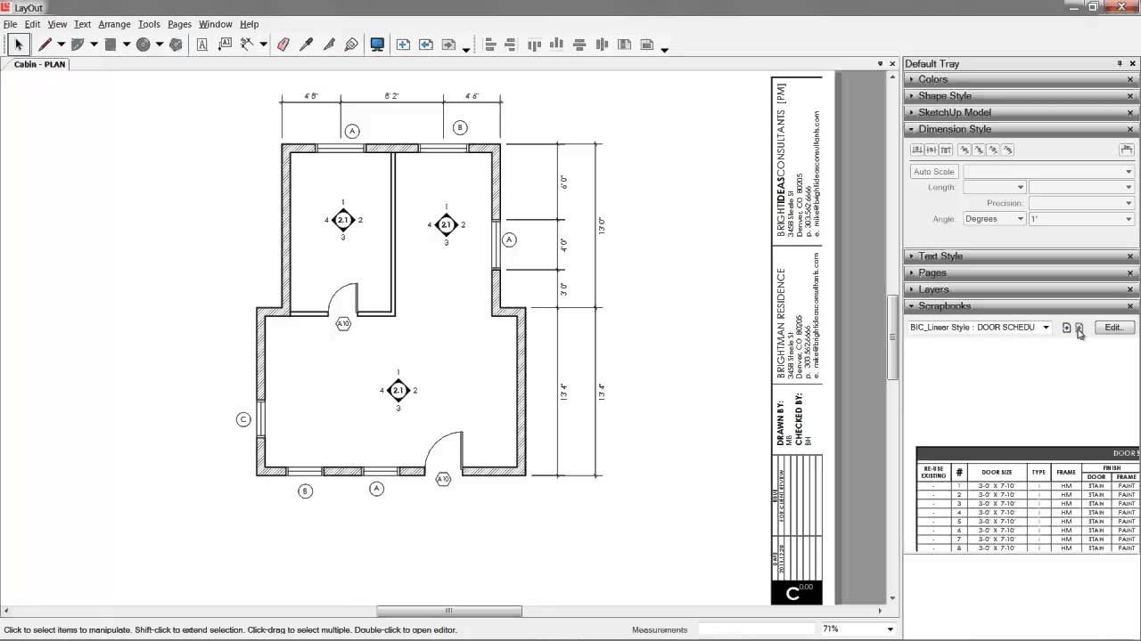06 Sketchup Layout Construction Documents