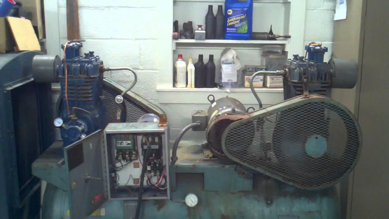 Quincy Duplex 240 Compressor Youtube