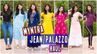 Myntra JEANS/ PALAZZO Haul | Myntra Bottomwear Haul