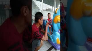 Naik odong-odong with ayah
