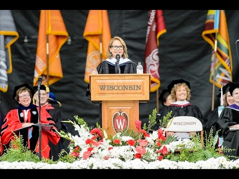 Katie Couric delivers the charge to the graduates at UW-Madison's 2015 Spring Commencement