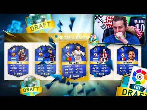 OMFG 99 RONALDO MY FIRST LA LIGA TOTS FUT DRAFT! FIFA 16 ULTIMATE TEAM