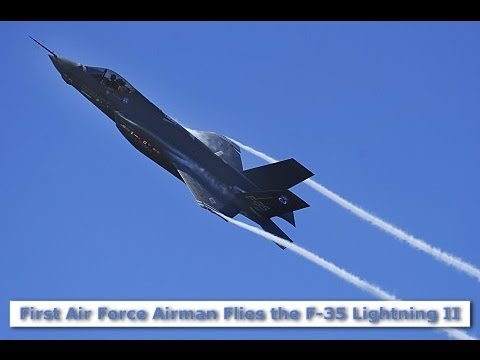 F-35 JSF Joint Strike Fighter Lightning II Test Pilot Flies