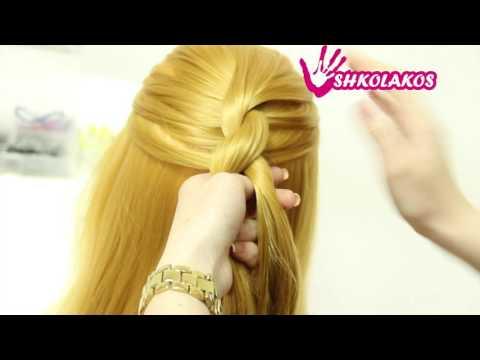 Фото: Прическа жгут на средние волосы