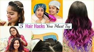 5 Life Saving WEDDING HAIR HACKS You MUST Try | #LifeHacks #HairCare #Fun #Anaysa