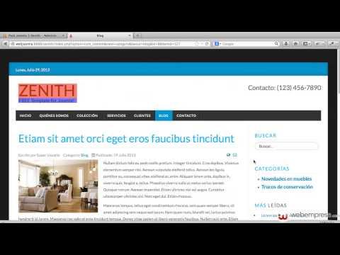 Pack Webempresa 3 Zenith - Configuración de plantilla y cambio de logo