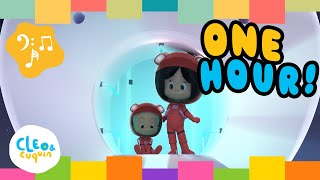 Songs Collection! (1 HOUR) - Cleo and Cuquin | Familia Telerín Nursery Rhymes