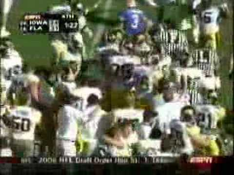 2006 Outback Bowl Iowa Hawkeyes vs. Florida Gators Video