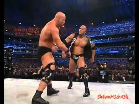 The Rock Vs Stone Cold Wrestlemania 19 2003 Highlight Show video