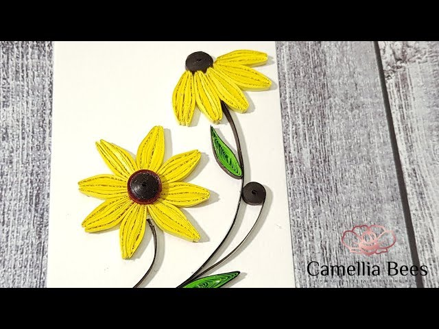Quilling Paper Flower Card - Quilling Tutorial for Beginner