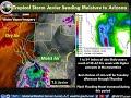 Tropical Storm Javier to send moisture into Southeast Arizona