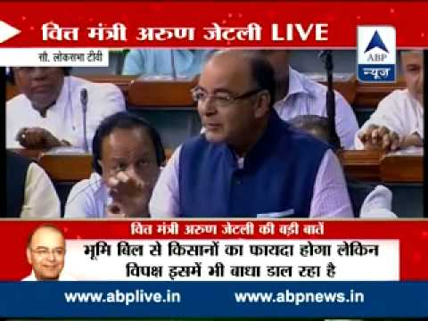 Finance minister Arun Jaitley targets Rahul Gandhi in Lok Sabha