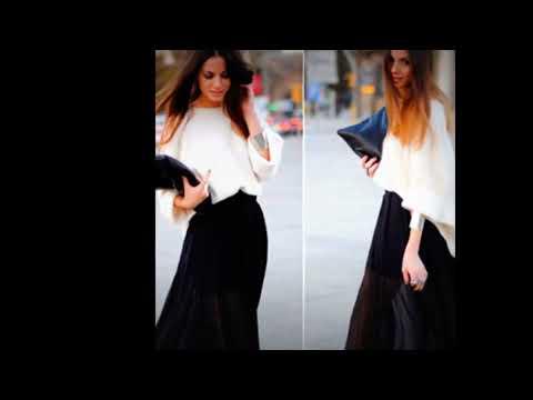 Faldas largas o maxi combinaciones