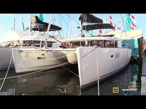 2018 Lagoon 450 Catamaran - Deck and Interior Walkaround - 2017 Annapolis Sail Boat Show