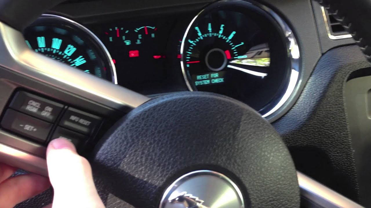 How To Reset Ford Mustang Oil Service Light Indicator
