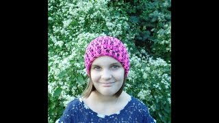 CROCHET How to #Crochet Easy Basic Beanie Hat Adjustable Toddler Child Adult #TUTORIAL #262 LEARN
