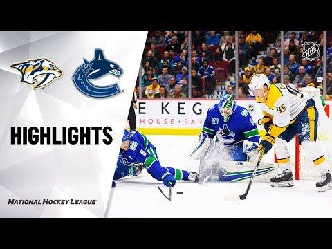 NHL Highlights  Predators  Canucks 111219
