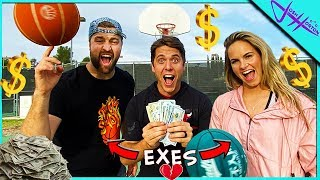 MAKE A SHOT...WIN THE CASH! *Ex Boyfriend vs Ex Girlfriend*
