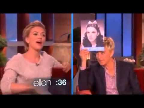 Robert Downey Jr and Scarlett Johansson at the Ellen Degeneres Show