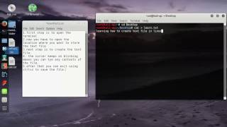 Creating and editing of text files in linux