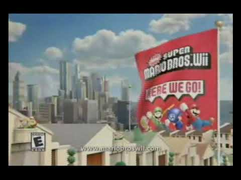 New Super Mario Bros. Wii - 2 North American commercials Video