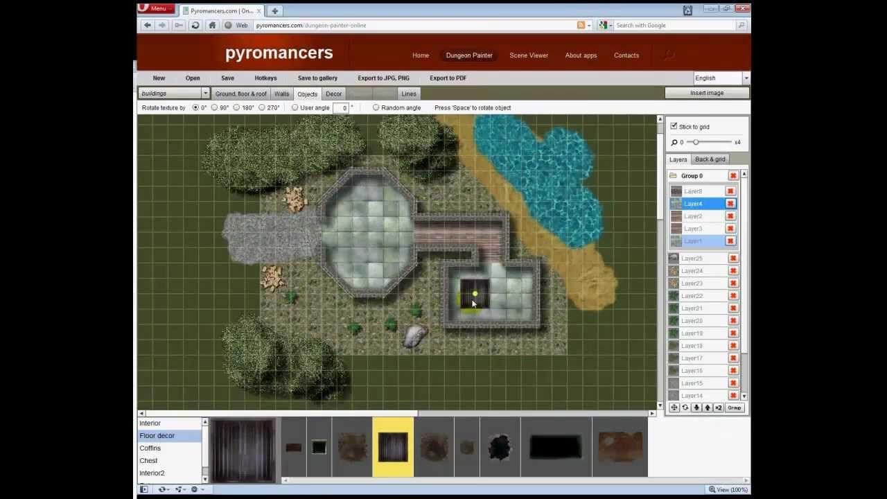 Dungeon painter online flash based encounter map design for Building map maker