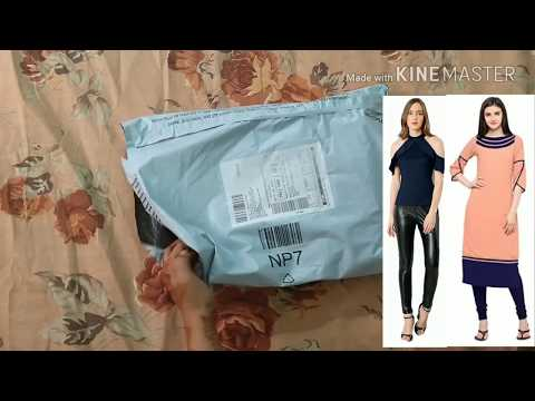 Unboxing cold shoulder dress and straight kurta from amazon | new fashion tops | new trendy tops