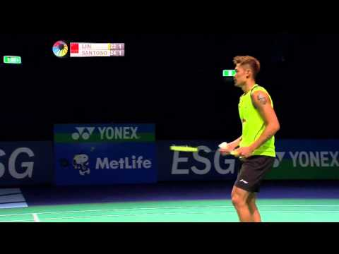 2014 The Star Australian Badminton Open-f-ms-lin Dan (chn) Vs Simon Santoso (ina) video