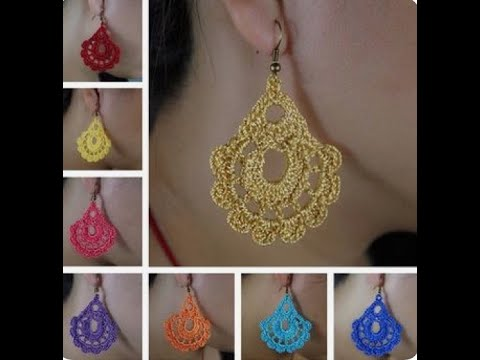 latest crochet earrings design ideas|how to make earring in home