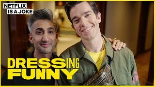 Tan France Gives John Mulaney a Hypebeast Makeover | Dressing Funny | Netflix Is A Joke