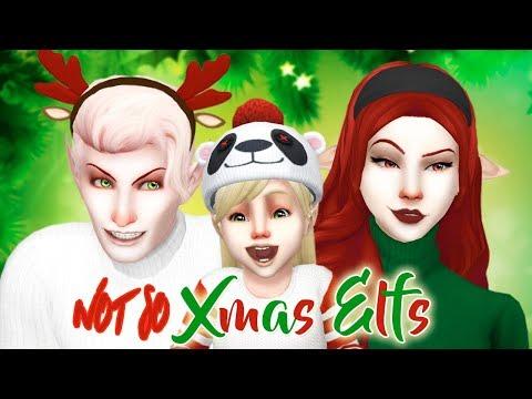 The Sims 4: CAS | не совсем РОЖДЕСТВЕНСКИЕ ЭЛЬФЫ