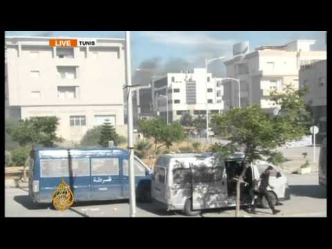 US embassy in Tunis under fire