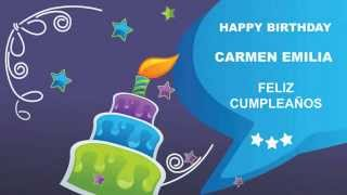 Carmen Emilia   Card Tarjeta - Happy Birthday