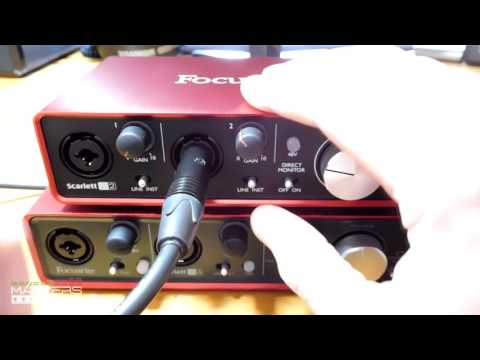 comparison between 2 audio interfaces