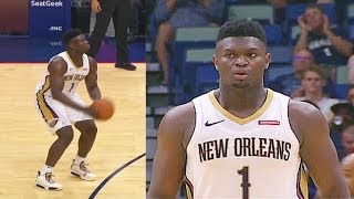 Zion Williamson Turns Into Ben Simmons After Hitting His First 3 Point Shot In 2019 NBA Preseason!