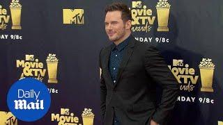 Chris Pratt arrives looking dapper at the MTV Movie & TV Awards - Daily Mail