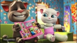 Baby learn colors with my talking Tom and Angela sing Baa Baa Black Sheep ||Good night song for kid