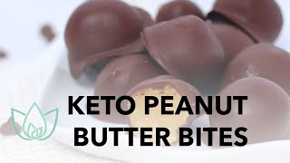 Keto Peanut Butter Bites - Low Carb and Sugar Free