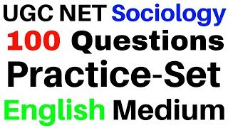 UGC NET Sociology 100 Practice Set Questions in English