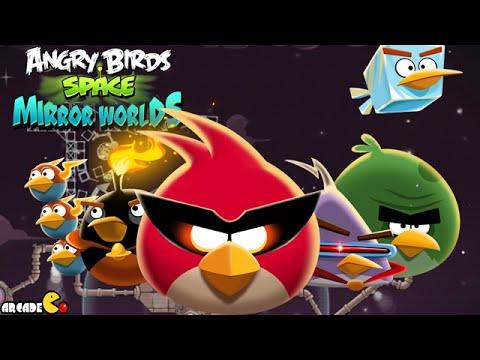 Angry Birds Space: Brass Hogs Level M9-4 Mirror World Walkthrough 3 Star