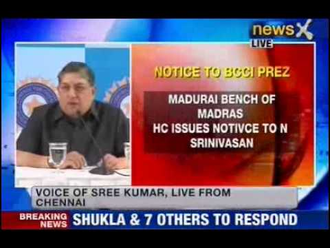 Madurai bench of Madras HC issues notice to Srinivasan