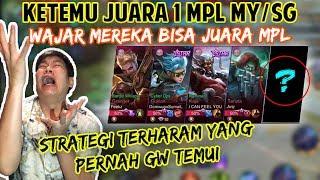 KETEMU JUARA MPL MY/SG COY, STRATEGI PALING NGESELIN YANG PERNAH GW TEMUI! - Mobile Legends
