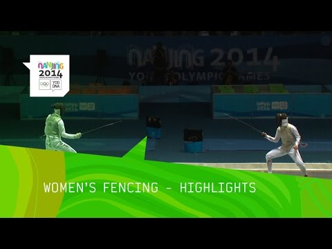 Sabrina Massialas Wins Women's Fencing Foil Gold - Highlights | Nanjing 2014 Youth Olympic Games
